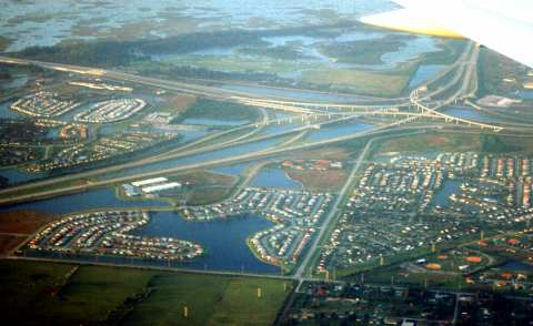 Aerial photo of C-11 Basin West, Weston, Broward County, Florida
